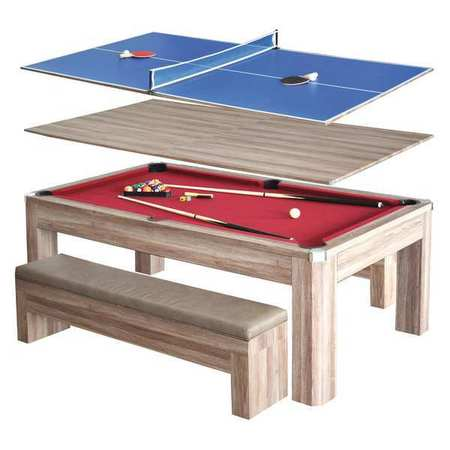 Hathaway pool table combo set 7 ft bg2535p for Table table restaurants locations