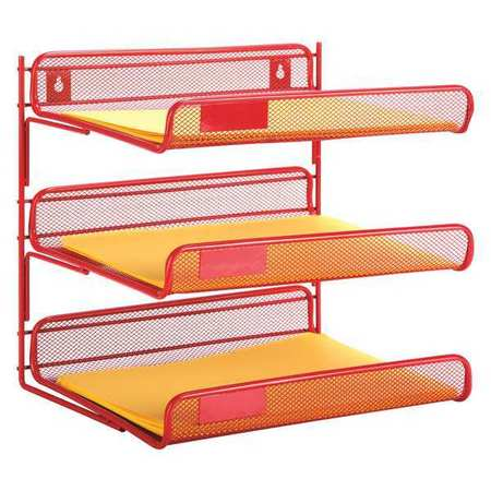 Desk Organizer 3 Tier Red