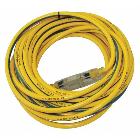 25 ft. 12/3 SJTW Lighted Extension Cord YL/BL