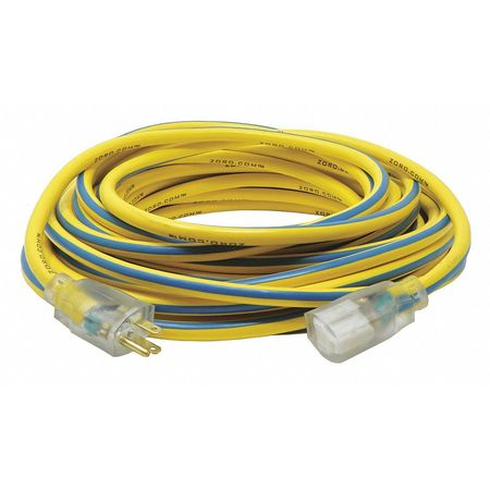50 ft. 12/3 SJTW Lighted Extension Cord YL/BL