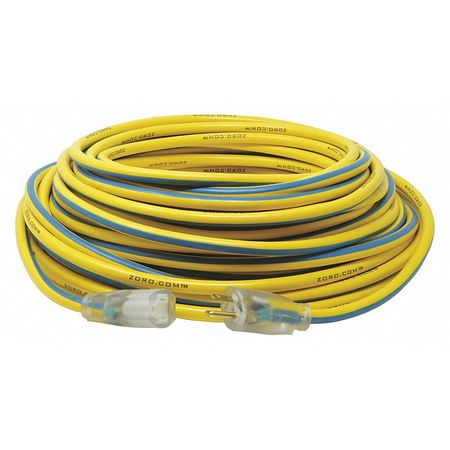 100 ft. 12/3 SJTW Lighted Extension Cord YL/BL