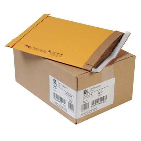 43HJ20 Mailer, 9-1/2 x 14-1/2 in, Gold Brown, PK25