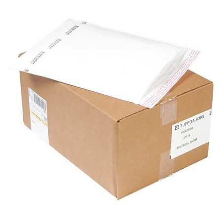43HJ23 Mailer, Self-Seal, 10-1/2x16 in, White, PK25