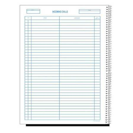 wirebound call log book 700 forms