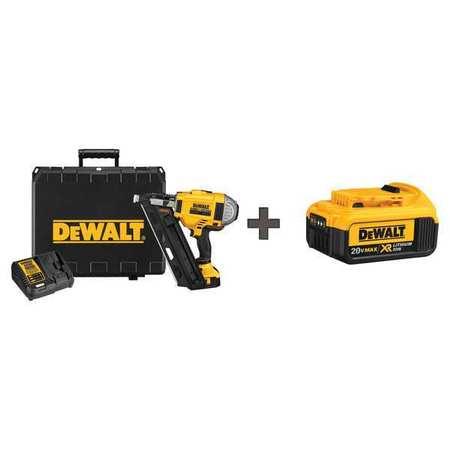 Dewalt Cordless Framing Nailer, 20.0V, w/Battery DCN692M1 / DCB204 ...