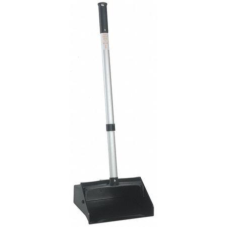 Lobby Dust Pan, Black, 30in, Locking Handle