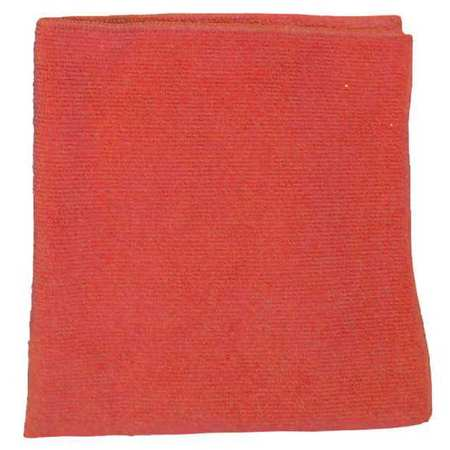 Microfiber Cloth, Red, 16 x 16 in.