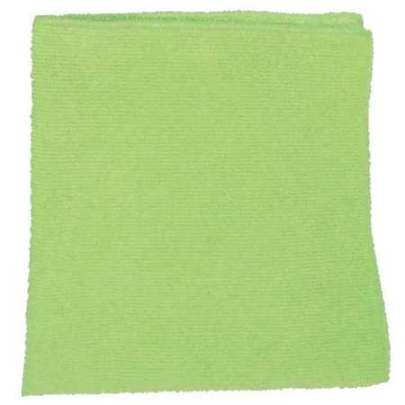 Microfiber Cloth, Green, 16 x 16 in.