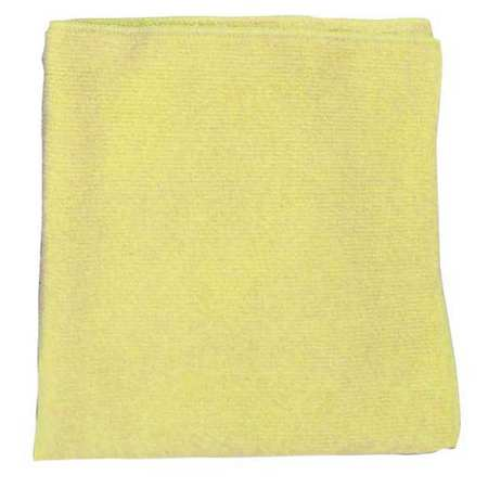 Microfiber Cloth, Yellow, 16 x 16 in.