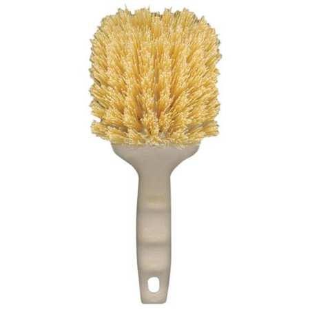 Utility Brush, Plastic, Cream, 8-1/2 in.