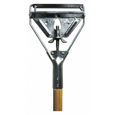 "Metal Mop, 60"", Quick Change Wood Handle"