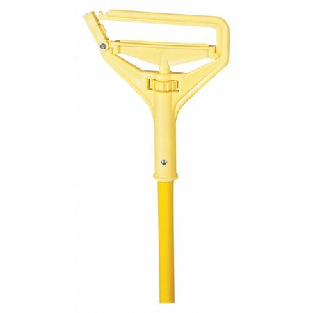 "Plastic Mop, Yellow, 60"", Metal Handle"