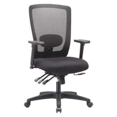 Alera Mesh Mid Back Multifunction Chair Black HALE754