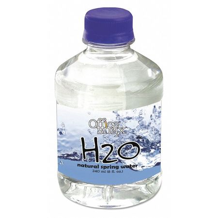 43PX39 Snax Bottled Spring Water, 8 oz., PK24