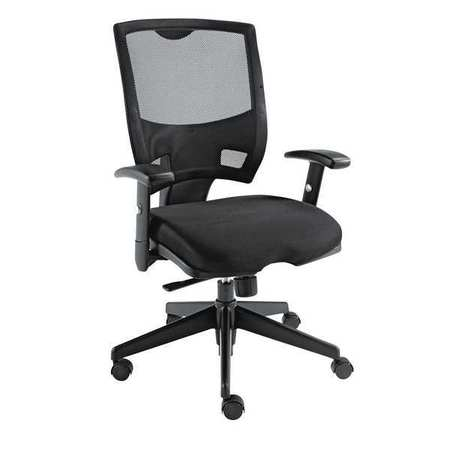 Multi Function Mesh Mid Back Chair, Black