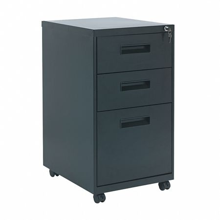 Metal Pedestal File, 3 Drawer