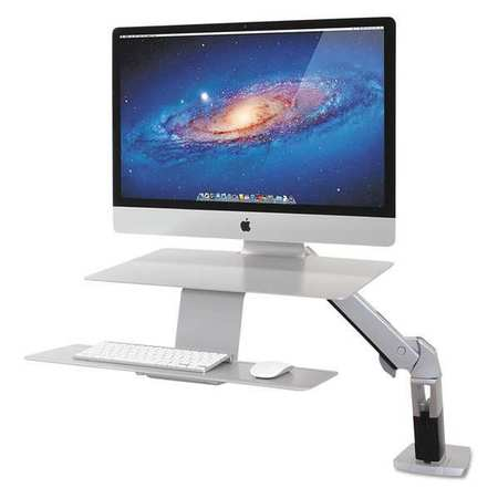 43RC46 Workstation, WorkFit-A, Sit/Stand, Silver