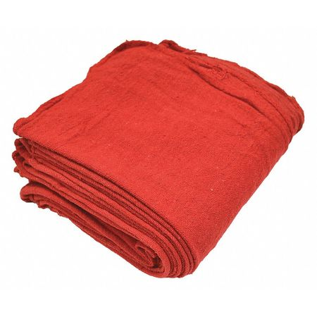 "Zoro Red,  Cotton 12"" x 14"" Shop Towel,  Pack of 25"