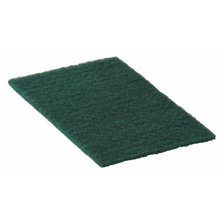 "Hand Pad, Medium Duty, Green, 6"" x 9"", PK20"