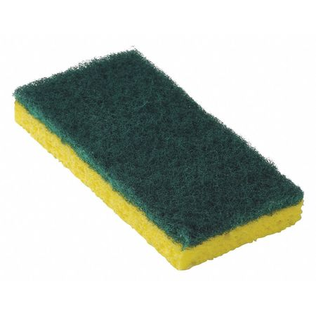 Scrubbing Sponge, Yellow/Green, PK20