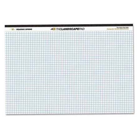 white wide landscape graph paper pad