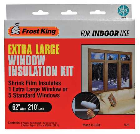 Frost king window insulation kit extra large 62 x 210 for Window insulation rating