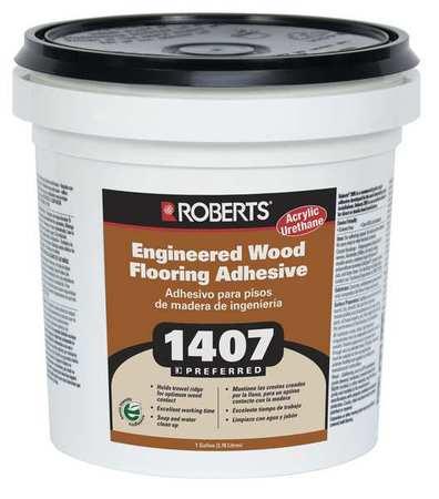Roberts Engineered Wood Flooring Adhesive 1 Gal 1407 1 Zoro