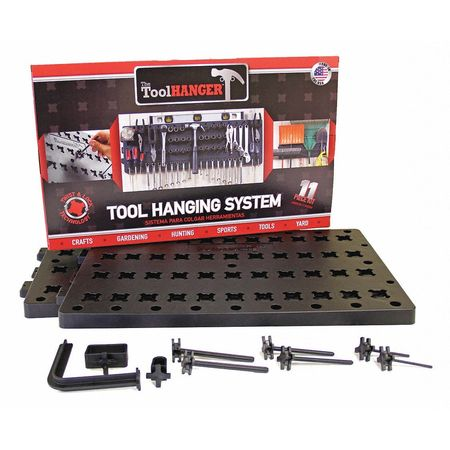 Tool Hanger Kit,Black,50 lb. Capacity Tools Equipment Plus Gifts