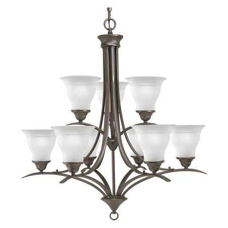 Asher 3 Light 9 inch Antique Pewter Chandelier Linear (Single) Ceiling Light