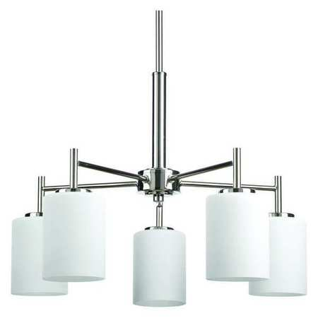 Replay 5 Light Chandelier Up Down 100 W Polished Nickel