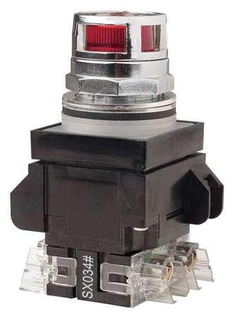 Illuminated Push Button,30mm,1NO/1NC,Red
