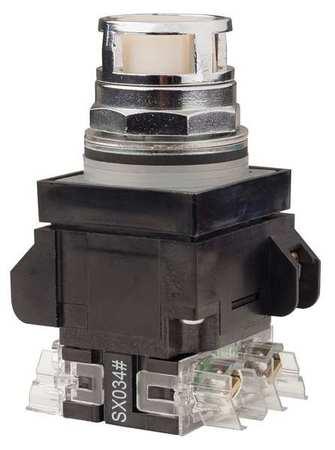 Illuminated Push Button,1NO/1NC,12VAC/DC
