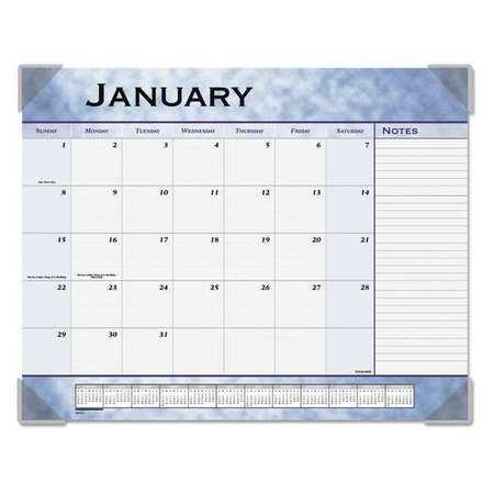 At A Glance 22 X 17 Blue Monthly Desk Calendar 89701 Zoro Com