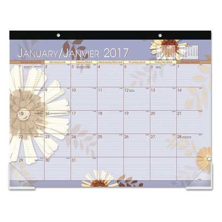 At A Glance 22 X 17 Desk Calendar Floral 5035 Zoro Com