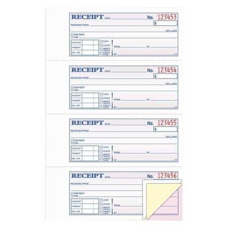 moneyrent receipt book 3 part