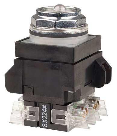 Illuminated Push Button,30mm,No Lens
