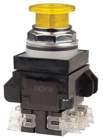 Illuminated Push Button,30mm,Yellow