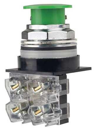 Non-Illuminated Push Button,30mm,Green