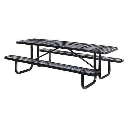 Vestil Metal Rectangle Picnic Table Black EXPTSBLK Zorocom - 96 picnic table