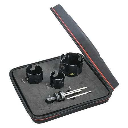 44WF84 All Purpose Carbide Tip Hole Saw Kit, 6