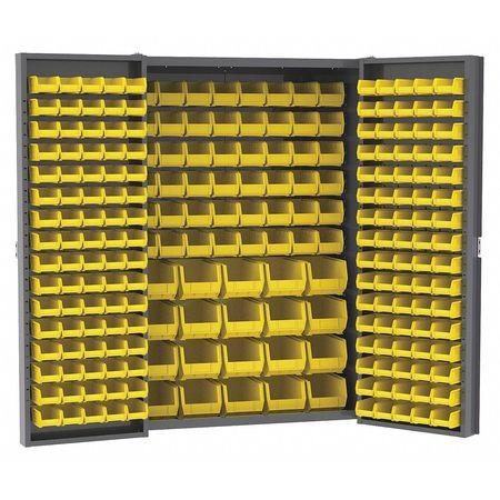 Hd Steel Bin Cabinet, 228 Bins, 24x48x72
