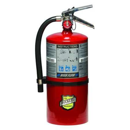 44YZ30 Fire Extinguisher, ABC, 10 lb., 21 in. H