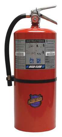 44YZ32 Fire Extinguisher, BC, 20 lb., 21-1/4 in. H
