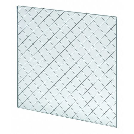 National Guard Fire Rated Wired Glass 6inx21in L Wg