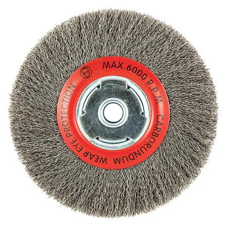"""Zoro Select 66252838647 Wire Wheel Brush,0.008/"""" Dia Wire"""