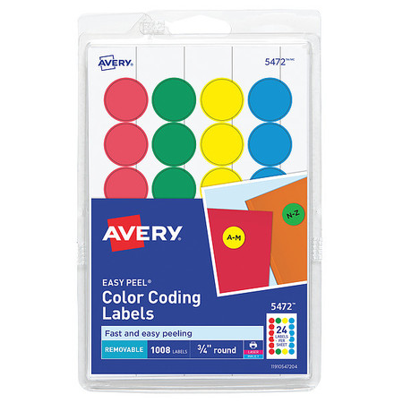 avery avery assorted colors blue green red yellow removable