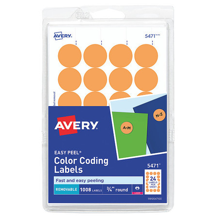 Avery Avery Removable Color Coding Labels Removable Adhesive Neon