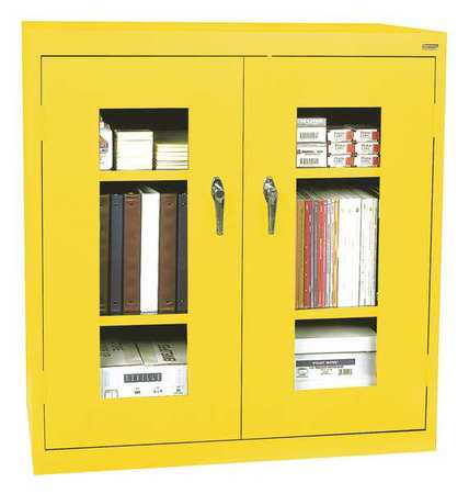 Storage Cabinet, Steel, Clearview, Yellow