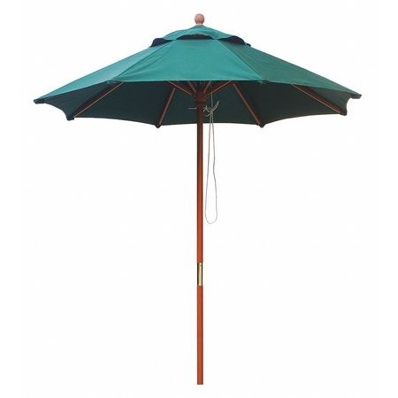 Gav Market Umbrella 7 Ft Forest Green 45mv57 Zoro Com