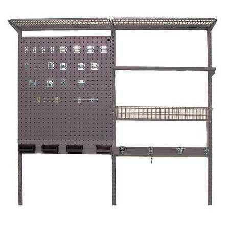 locboard wall mounted wire shelving 400 lb steel 1740. Black Bedroom Furniture Sets. Home Design Ideas